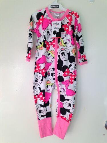 "J18 NWT BONDS Zippy Zip Wondersuit Disney Edition /""Minnie /& Friends/"" Size 1"