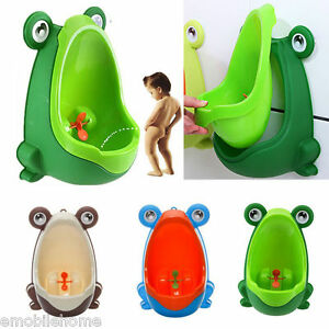 Frog Children Potty Toilet Training Kid Urinal For Boy Pee Trainer Strong Sucker