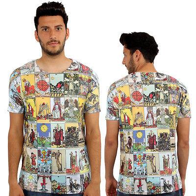 Tarot Cards 3D Print Fitted T-Shirt Urban Life Monkey Business Hip Hop Top