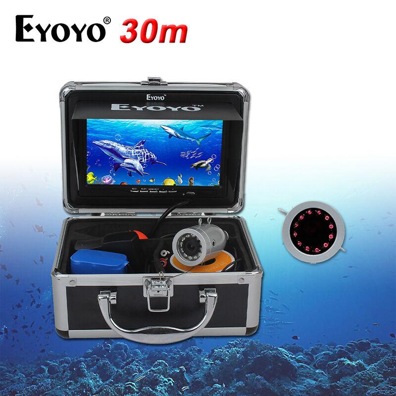 7  Color LCD HD 1000TVL Buscador de los pescados Mar hielo barco IR Cámara De Pesca Submarina