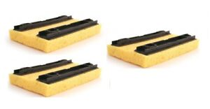 3 x Bentley Deluxe Hinge Floor Mop Refill Sponge Mop Refill In Yellow 20 x 14cm 2600000650854