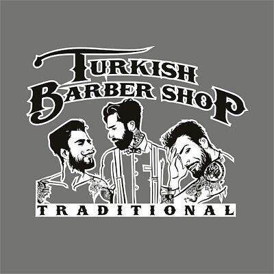 Turkish barber shop sticker Barber shop window decal Turkish Barber Sign