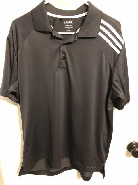 Adidas ClimaCool Men's Medium Black Short Sleeve Athletic Golf Polo Shirt