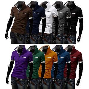 herren polohemd poloshirt t shirt freizeithemden sommer kurzarm shirts wei neu ebay. Black Bedroom Furniture Sets. Home Design Ideas