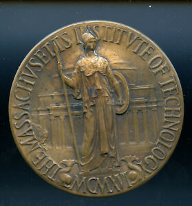 1916-MIT-bronze-commemorative-medal-Cambrige-and-founder-C-Keck-design-CP175