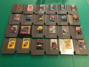 Lot Of 24x Nintendo Nes Games Untested Contra Punch Out Lots Of Marios Link Ebay