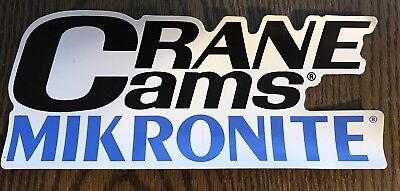Crane Cams Racing Decals Stickers 5-1//2 Inches Long Size Set of 2