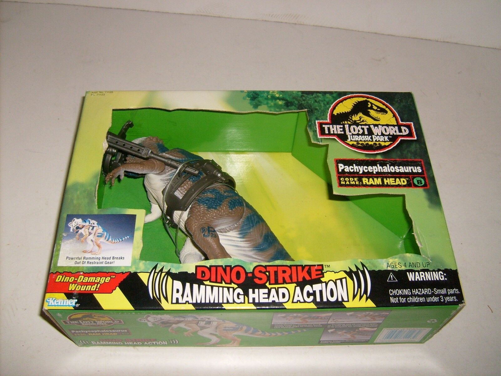Jurassic Park Lost World Pachycephalosaurus Kenner Action Figure NEW MIB JP