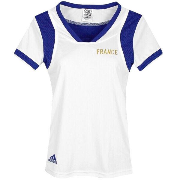 Adidas Climacool Damen Sport T-Shirt Laufshirt Tank Top France Women weiss/blau