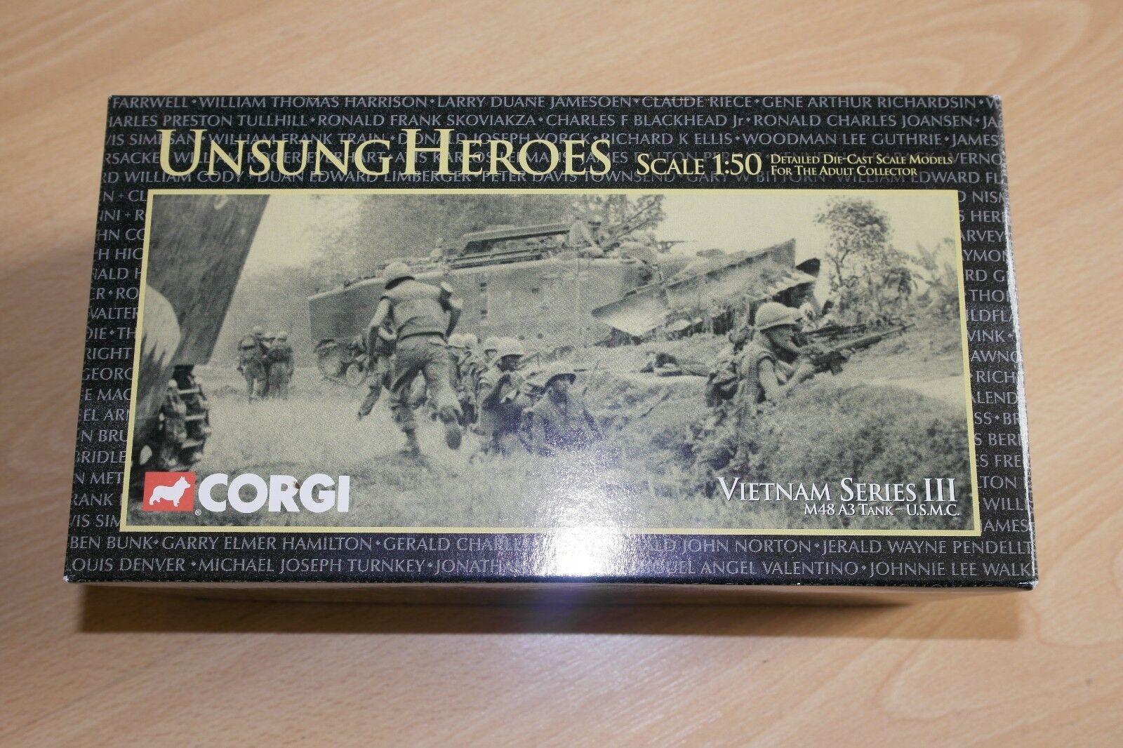Corgi Unsung Heroes Serie Vietnam. 1 50 III M48A3 Tanque-USMC