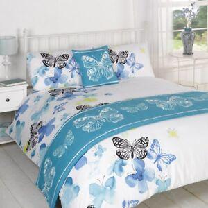Polilla Bleu Couette Lit Dans Un Sac Set Simple Double King Size Ebay