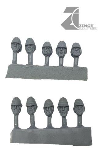 Zinge Industries Imperio colonial artillería Redondo cabezas infantería nuevo S-CAC05
