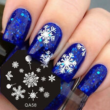 Christmas Nail Art Stamping Plate Snowflake Stamp Images Designs