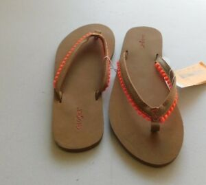 ca552f2a21c9 Girls Sandals Cat   Jack Girls Tassle Flip Flop Size L 4 5 ...