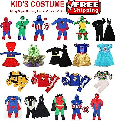 NEW Sz 1~12 KIDS COSTUME BOYS PARTY DRESS UP COSTUME SPIDERMAN OUTFITS CAPE MASK