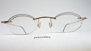 M Hochwertige Materialien Leichte Damenbrille Teilrandlos Verziert Ovale Form Metallfassung Rot-blau Gr Beauty & Gesundheit