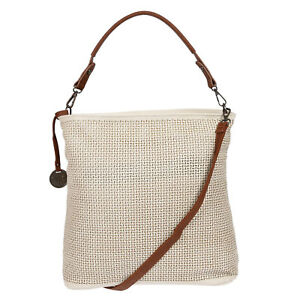 XL-Grosse-Damen-Tasche-Schultertasche-Umhaengetasche-Shopper-Leder-Optik-Beige-NEU