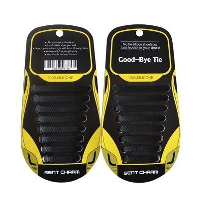 Silikon Schnürsenkel 16 Stück Elastisch Schuhbänder Schuhband 13 Farbvarianten