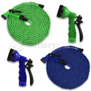 Deluxe-25-50-75-100-Feet-Expandable-Flexible-Garden-Water-Hose-w-Spray-Nozzle