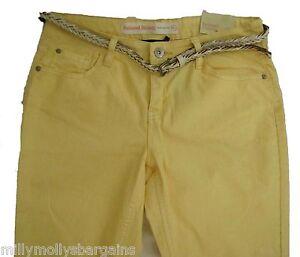 Nouveau-Debardeur-Jaune-Decontracte-Skinny-Next-Jeans-Taille-14-12-10-8-Long-regulier-RRP-30