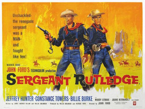 Sergeant Rutledge John Ford Jeffrey Hunter movie poster print