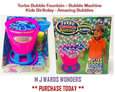 Analytisch Turbo Bubble Brunnen Seifenblasenmaschine Fabelhaft Kinder Geburtstag
