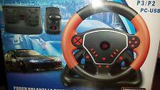 3 en 1 de alta velocidad Rueda Advance compatible con PS3/PS2/PC-USB