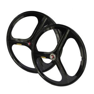 Laufradsatz Vorderrad oder Hinterrad Singlespeed Fixie 28 700C *SCHWARZ GLANZ* Radsport Felgen