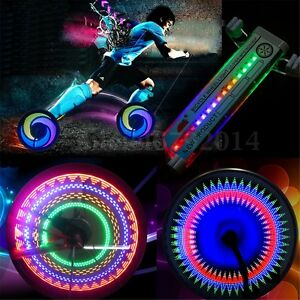 32 Pattern LED Neon Bicycle Wheel Tire Spoke Signal Light For Bike Safety