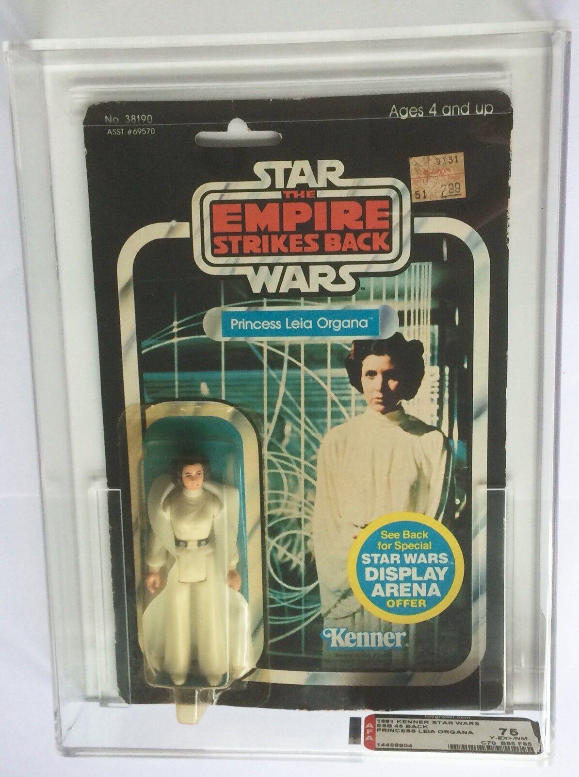 VINTAGE KENNER Star Wars ESB 45 Retro Principessa Leila Organa AFA 75  70/85/85  MOC