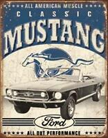 Ford Mustang Classic Vintage Old Look Steel Tin Sign free U.s. Shipping