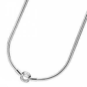 Genuine pandora moments silver charm necklace 590742hv free image is loading genuine pandora moments silver charm necklace 590742hv free aloadofball Images