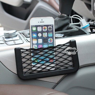Car Accessories Reticular Organizer Hanging Storage Box Bag For Cellphone