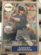 2017 Topps Series 2 Dansby Swanson 1987 Ash Wood Autograph Auto 02/10 Braves