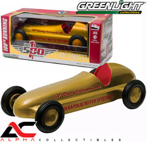 Greenlight-18230-1-24-Vintage-Indy-Roadster-100TH-que-ejecuta-Indianapolis-500-oro