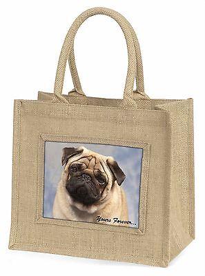 Beige Mops Hund dir für immer Große Natürliche Jute-einkaufstasche Weihnachten