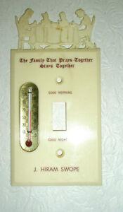 Vintage Advertising Switch Cover ThermometerJ Hiram Swope PA Representative