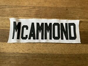 MCAMMOND Game Used Worn Ottawa Senators White Jersey Nameplate