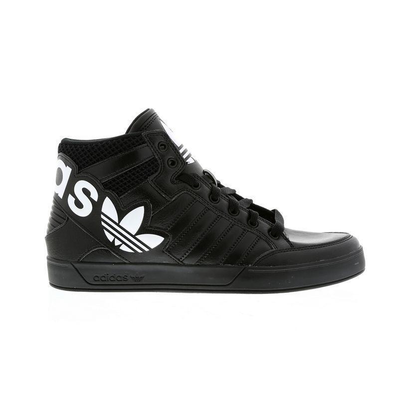 Para Hombre AQ2865 Adidas Hardcourt HI BIG LOGO Zapatillas Cuero Negro AQ2865 Hombre 256e67