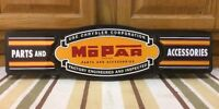 Mopar Chrysler Parts Accessories Vintage Style Dodge Plymouth Metal Garage 3d