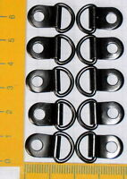 10 X Klappösen D-ring Bilderrahmen Aufhänger Black Nickel (schwarz) Neu