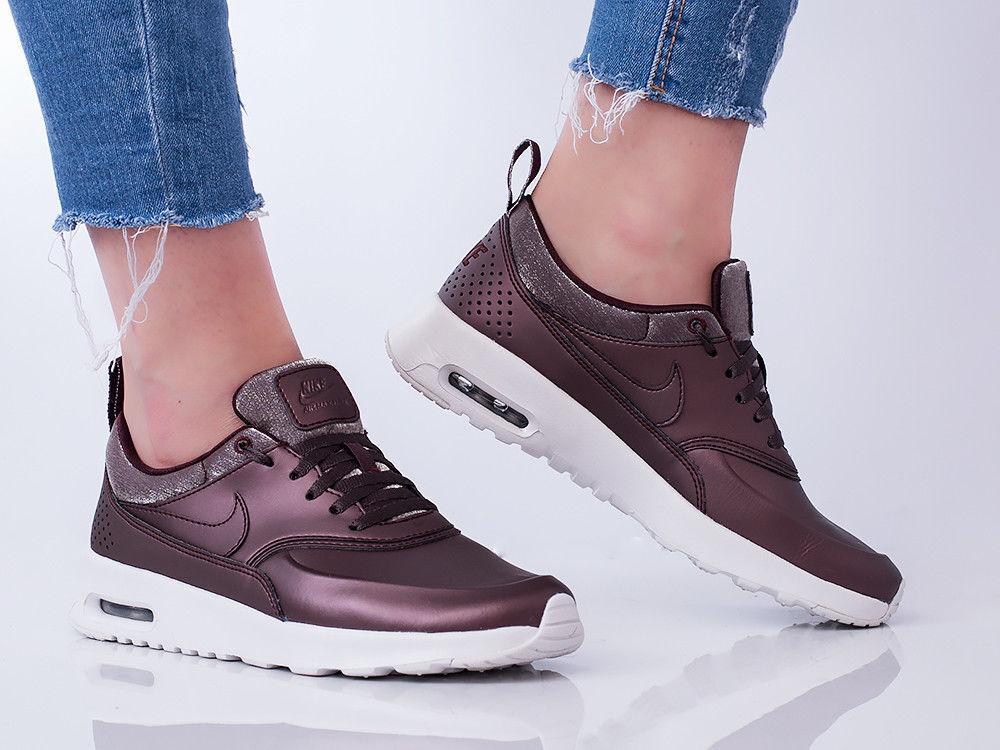 Nike Air Max Thea Premium Metallic Mahogany 616723-900 Wmn Sz 7 Leather