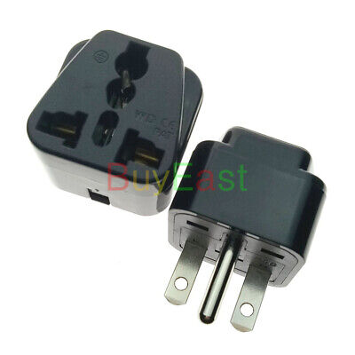 North American US NEMA 6-15P Electrical Plug Adapter Universal Outlet Bk 5 PCS