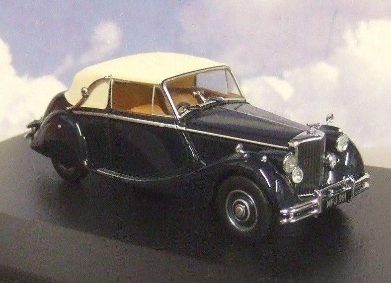 Oxford Diecast 1 43 1948-1951 Jaguar Mkv Mk5 Fermé Dhc Bleu Foncé   Beige