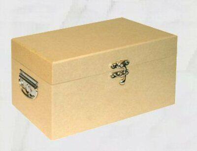 Malle Coffret avec poignées en Carton Havana 28x18,5x16h cm à décorer