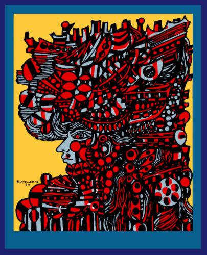 Wall Decor Poster.Fine Graphic Art Design.Portocarrero.Cuban.Cuba.Room art.182