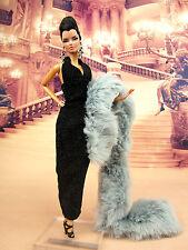 Eaki Evening Black Fur Dress Outfit Gown Silkstone Barbie Fashion Royalty FR2