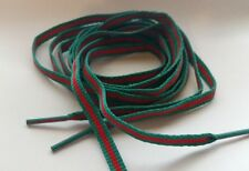 """Limited Edition*, 55"""", LUXURY RED AND GREEN, FLAT LACES STRIPE SHOELACE SB XI"""