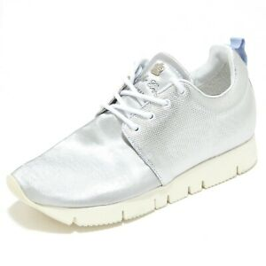 timeless design 2e1fa 663ba Details about 2834I sneakers donna LEATHER CROWN running hand made lumiere  scarpe shoes women