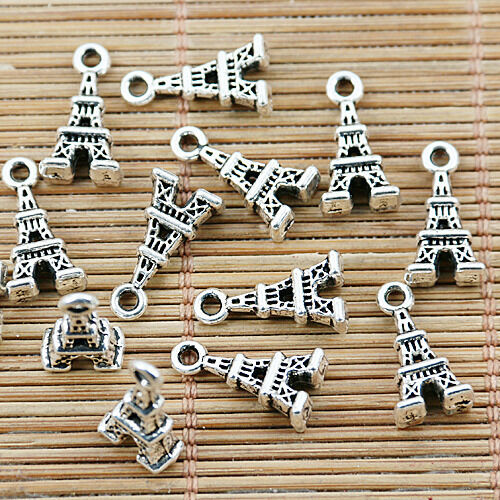 20pcs tibetan silver color 2sided tower design charms EF1417